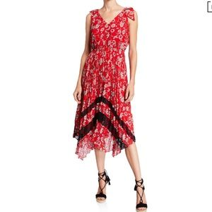 Nanette Lepore floral-print dress with lace.